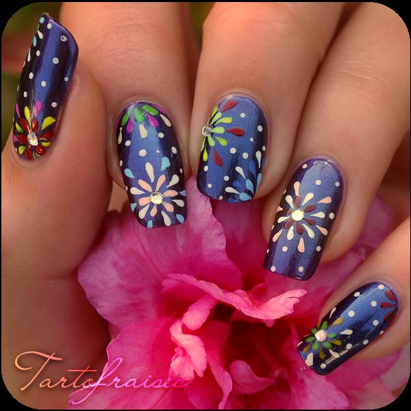 Nail Art Designs 2011: Fireworks By Tartofraises On DeviantArt