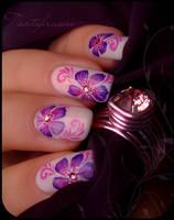 yukata nail art by Tartofraises