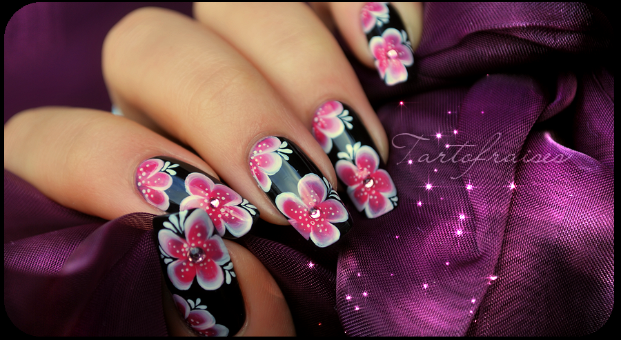 Nail Art One Stroke Yukata 2 By Tartofraises On Deviantart