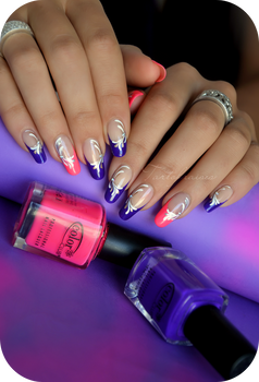 Neon nails fluo