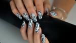 black and white manicure