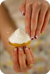 Cupcake manicure !!