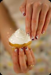 Cupcake manicure !! by Tartofraises