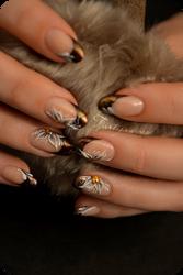 3d resin nail art for winter