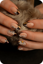3d resin nail art for winter by Tartofraises