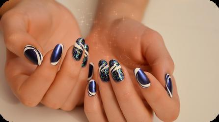 liner pen manicure easy by Tartofraises