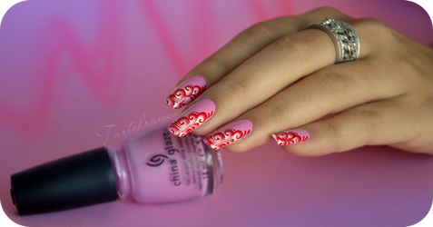 candy one stroke nail art