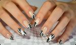Checkerboard nail art optical illusion