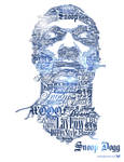Snoop Dogg Typographic Portrai