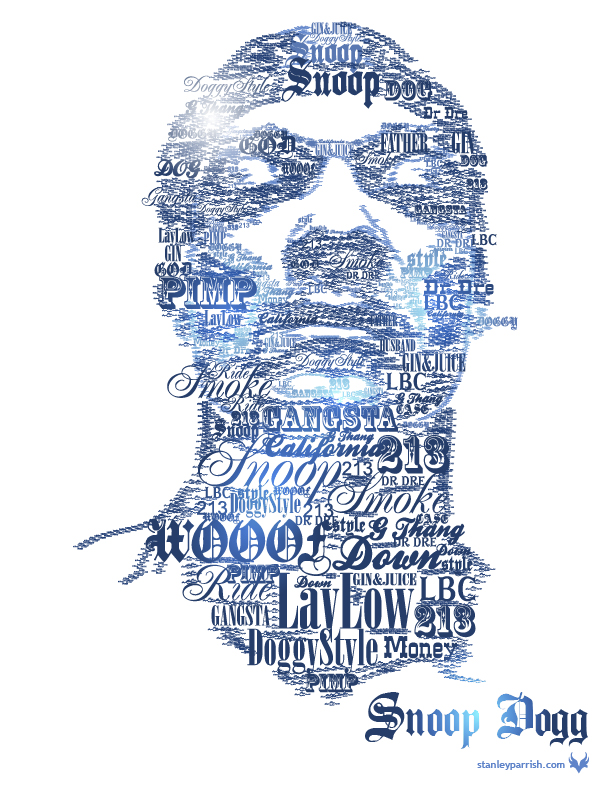 Snoop Dogg Typographic Portrai by slizzie