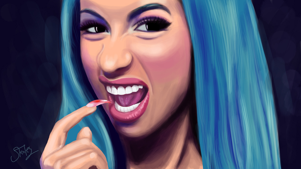 Cardi B Drawing: Slizzie (Stanley Parrish)