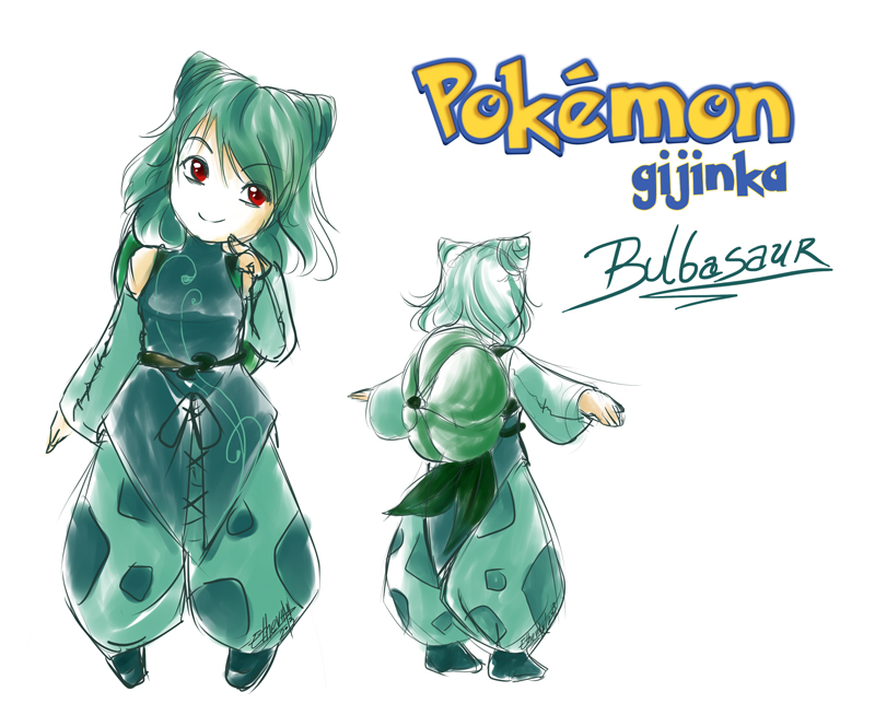 PKMN Gijinka + Bulbasaur+ by Ethevian