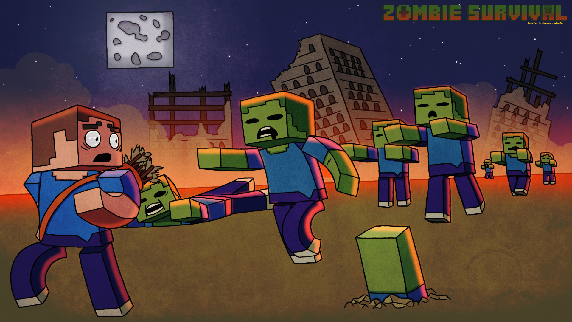 cool wallpapers of minecraft zombies - photo #23