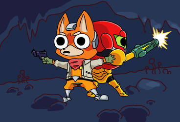 Metroid and Starfox by Boshirexman123
