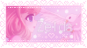 Pink classic Zelda stamp by CheeseCakePeach