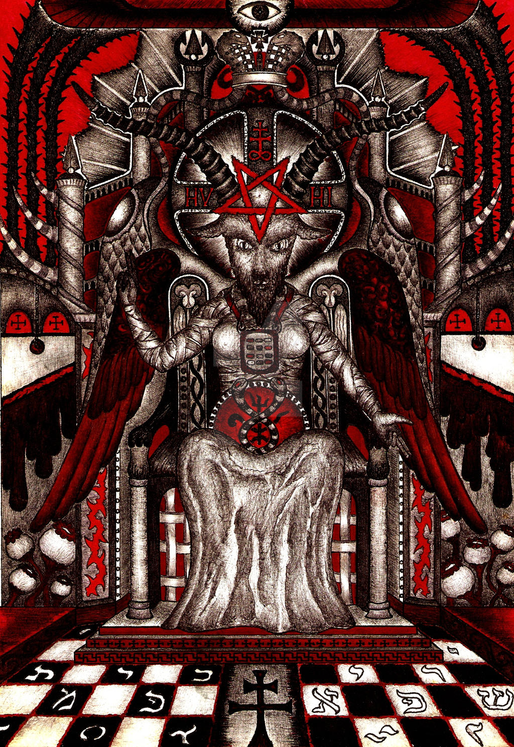 Baphomet enthroned or Baphomet 5 by mpv666