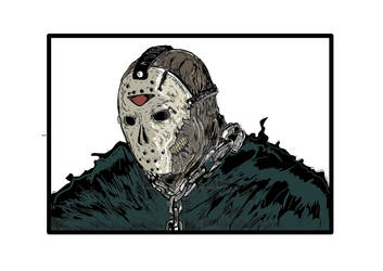 Friday the 13th jason in color By Ray Perilloux