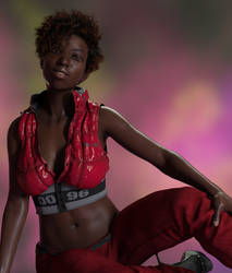 Jet Red Outfit by Computica