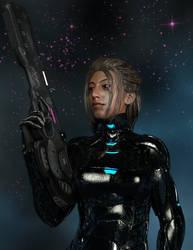 Gemma: Space-born Trooper by Computica