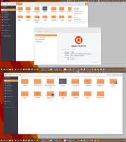 Arc Flatabulous Orange theme for Ubuntu 16.04 by c-mar1