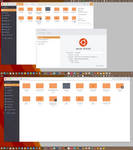 Arc Flatabulous Orange theme for Ubuntu 16.04 by c-mar1
