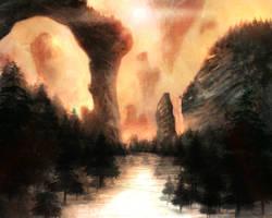 Fantasy Scape by lordFelwynn