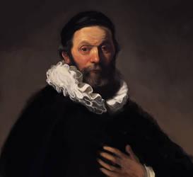 Study: Rembrandt/Portrait of Johannes Wtenbogaert