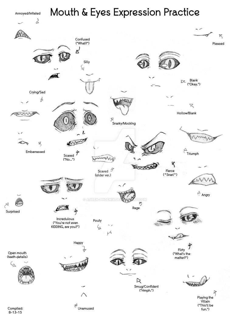 Mouth and Eyes - expression practice by Ashen-Phoenix