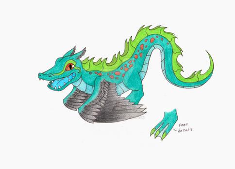 Winged Gator Dragon