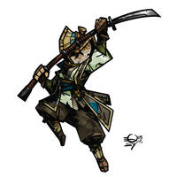 Darkest Dungeon Nobushi by Qsy-and-Acchan