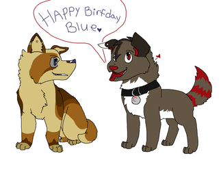 Happy Birthday Blue-Face!~ by BlackWerewolf14