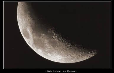 Wide cresent moon