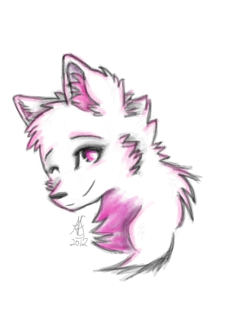 Cute Chibi Wolf :3 by InvaderZELENA