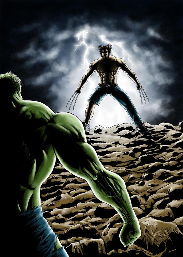 Hulk vs Wolverine colors