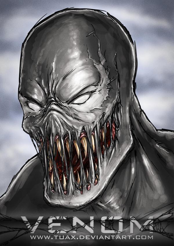 Venom poster blue by TuaX