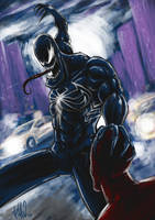 Venom vs Spidey by TuaX