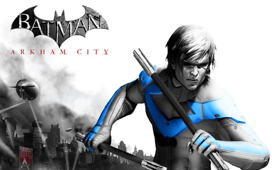 Nightwing - Arkham City by xcursedgravex