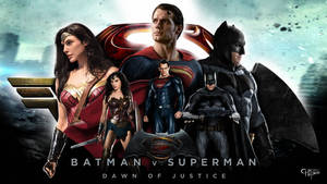 Batman, Superman and Wonder Woman - Wallpaper