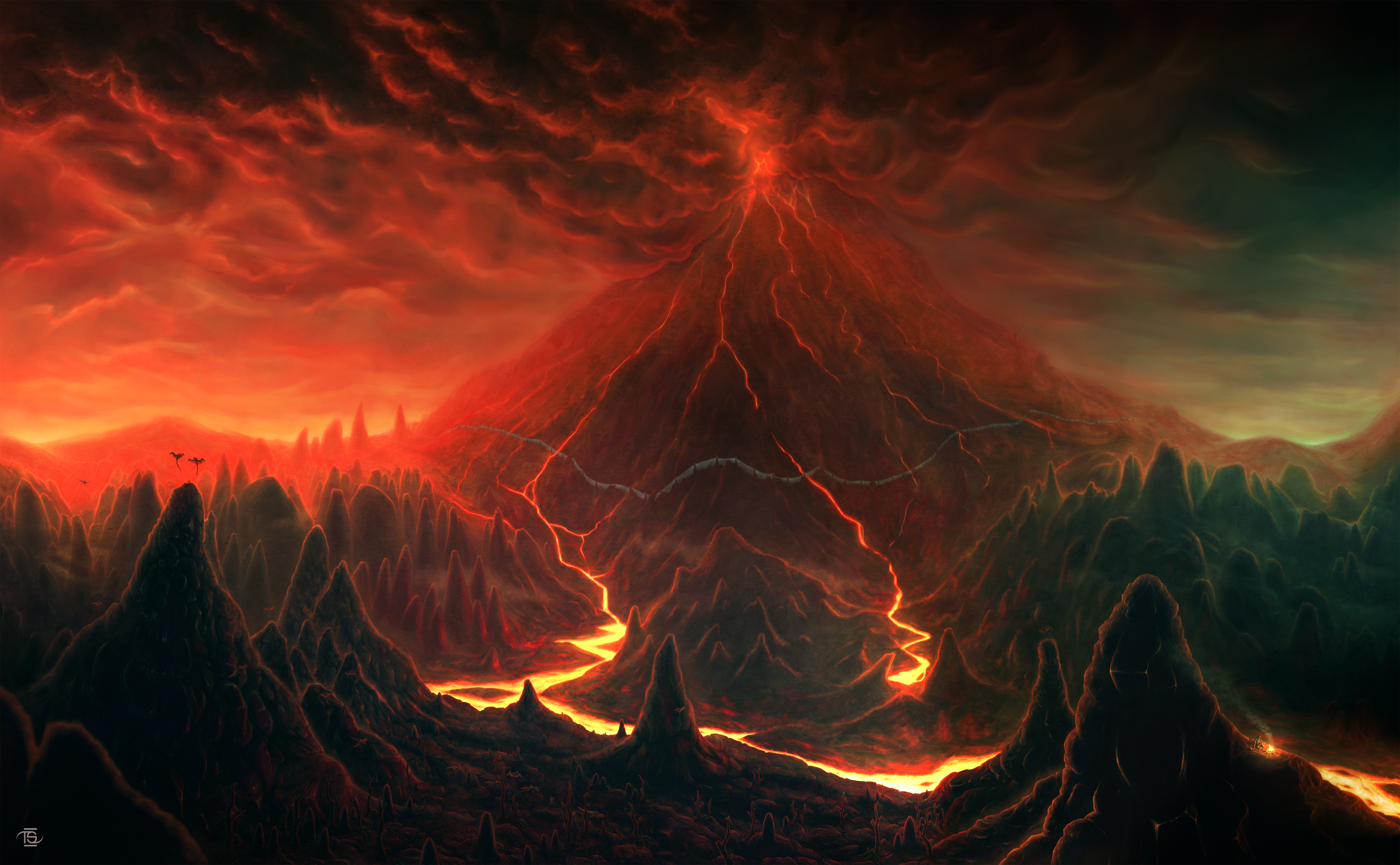 Morrowind: Red Mountain by ThornSpine