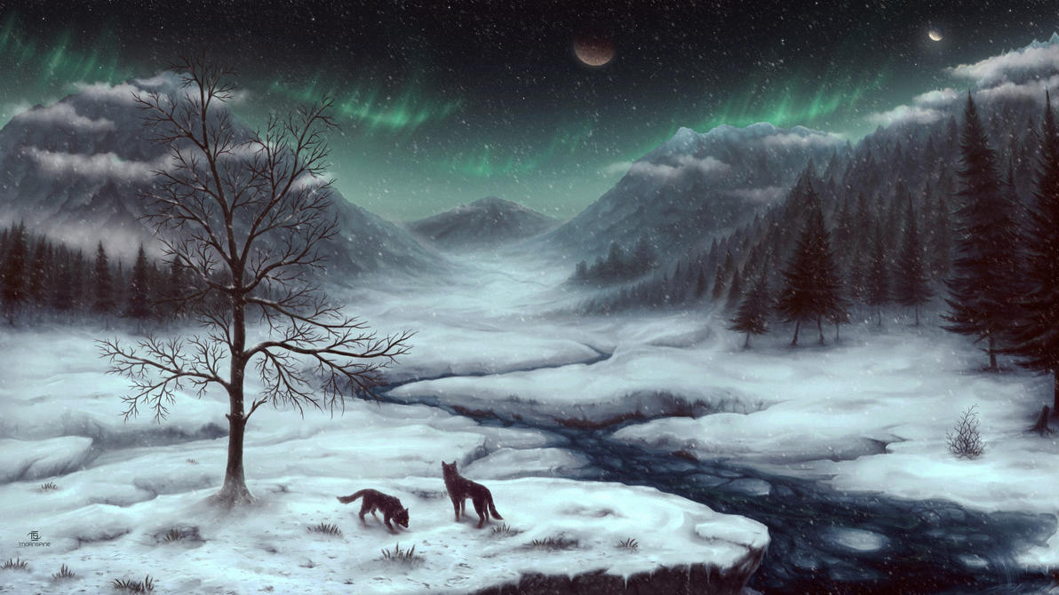 Snowy Skyrim by ThornSpine