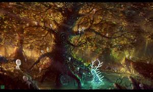 Awakening of the forest spirit
