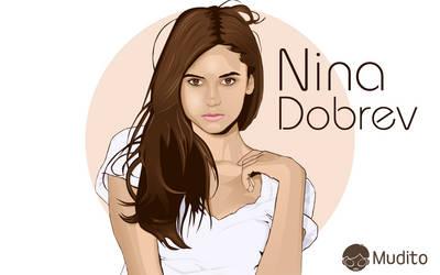 Vector Portrait: Nina Dobrev