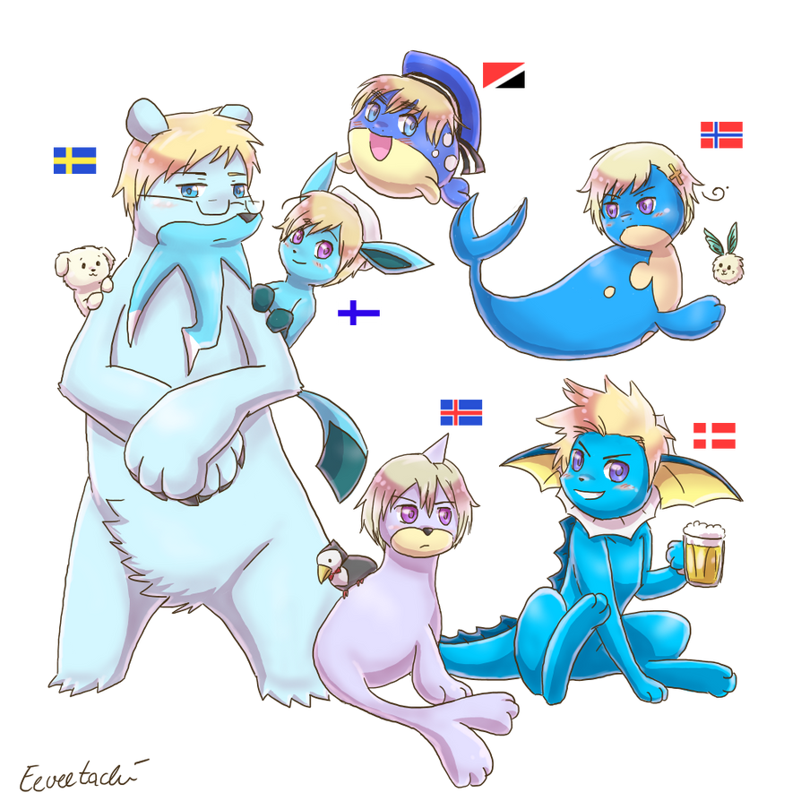 Poketalia - Nordics (plus Sealand) by Eeveetachi