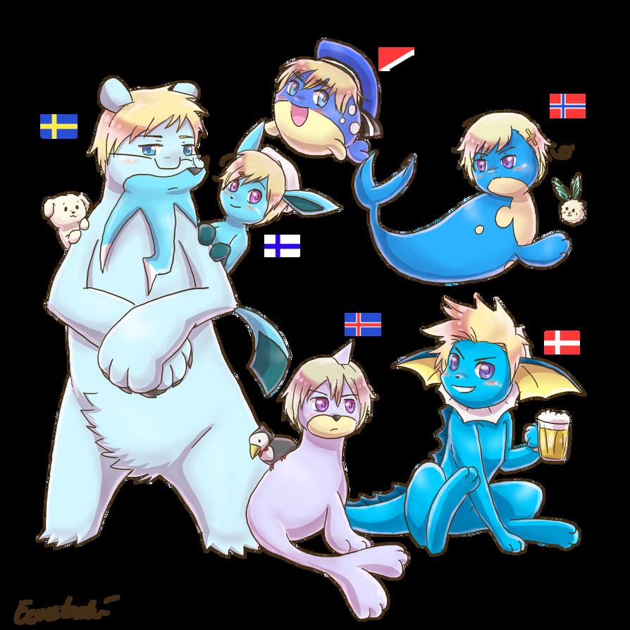 Poketalia - Nordics (plus Sealand) by Eeveetachi