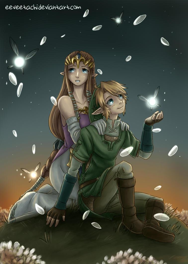 Fairies and Petals by Eeveetachi