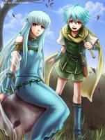 Dragon Siblings by Eeveetachi