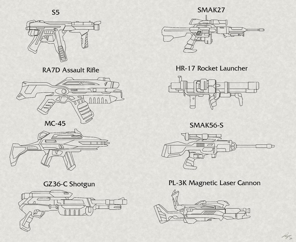 rifle-assault gun concepts by EastCoastCanuck
