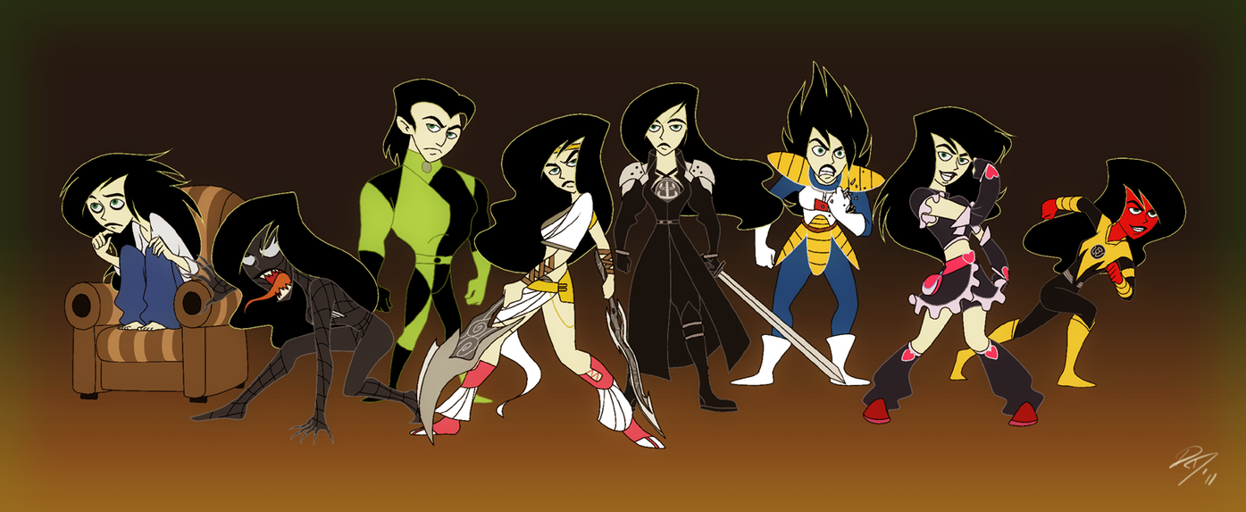 Shego Alts by EastCoastCanuck