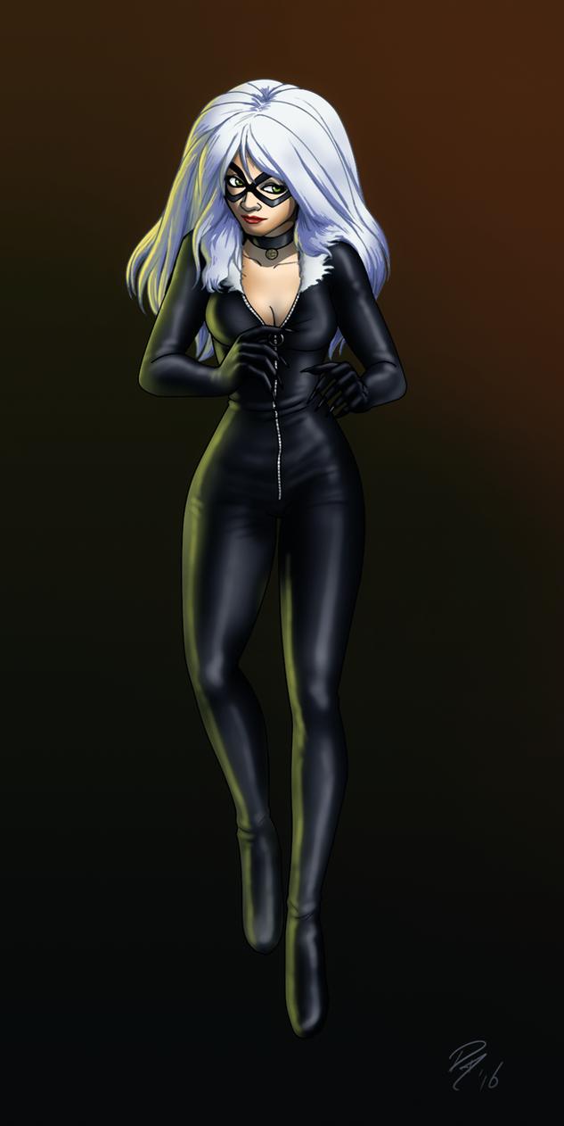 BlackCat Portrait by EastCoastCanuck