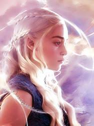-Daenerys Targaryen- by Orchidea-Blu